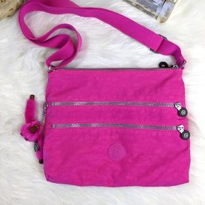 Kipling Avlar Vibrant Travel Pink Crossbody
